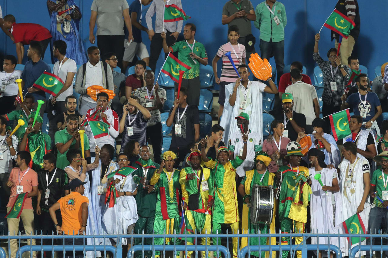 Mauritania Fans during the 2019 Africa Cup of Nations Finals football match between Mauritania and Tunisia at the Suez Stadium, Suez, Egypt on 02 July 2019 ©Gavin Barker/BackpagePix