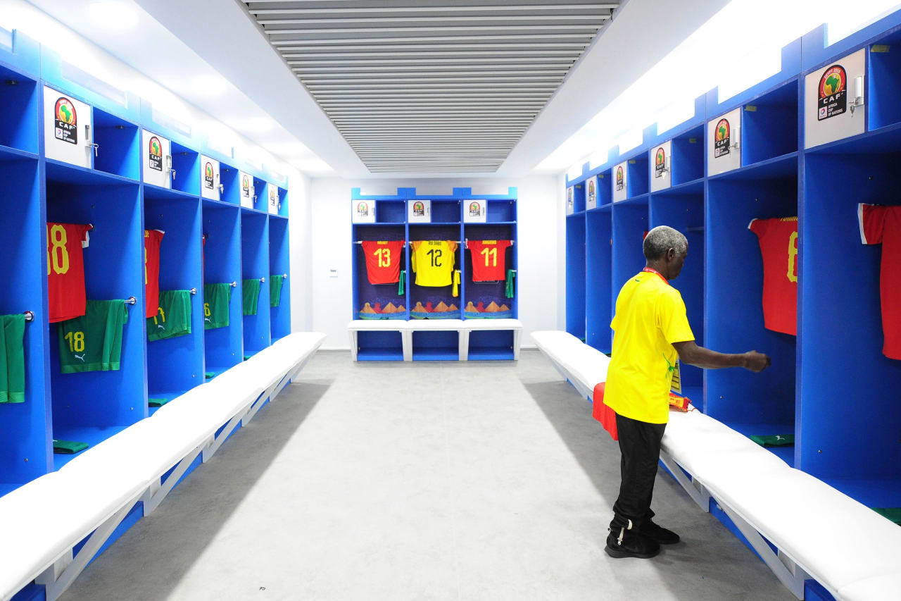 Guinea-Bissau dressing room shortly before the 2019 Africa Cup of Nations Finals game between Cameroon and Guinea-Bissau at Ismailia Stadium in Ismailia, Egypt on 25 June 2019 © Ryan Wilkisky/BackpagePix