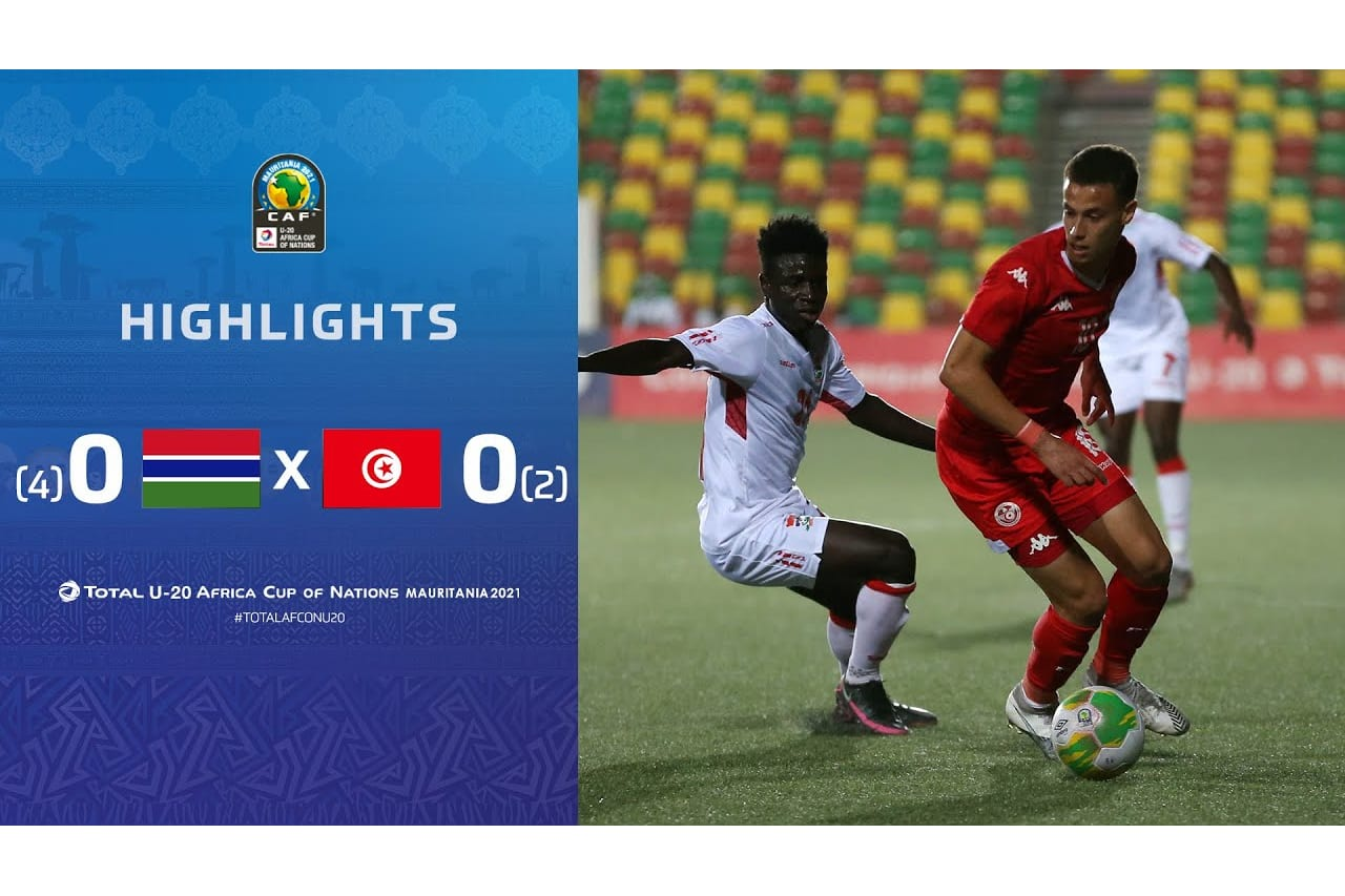 HIGHLIGHTS | Total AFCONU20 2021 | 3rd Place Match: Gambia 0 (4) - (2) 0 Tunisia