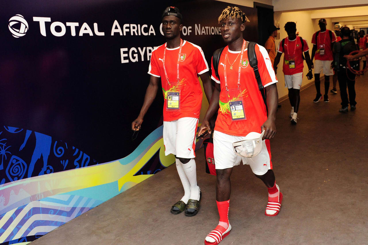 Guinea-Bissau arrivals before the 2019 Africa Cup of Nations Finals football match between Guinea Bissau and Ghana at the Suez Stadium, Suez, Egypt on 02 July 2019 © Ryan Wilkisky/BackpagePix