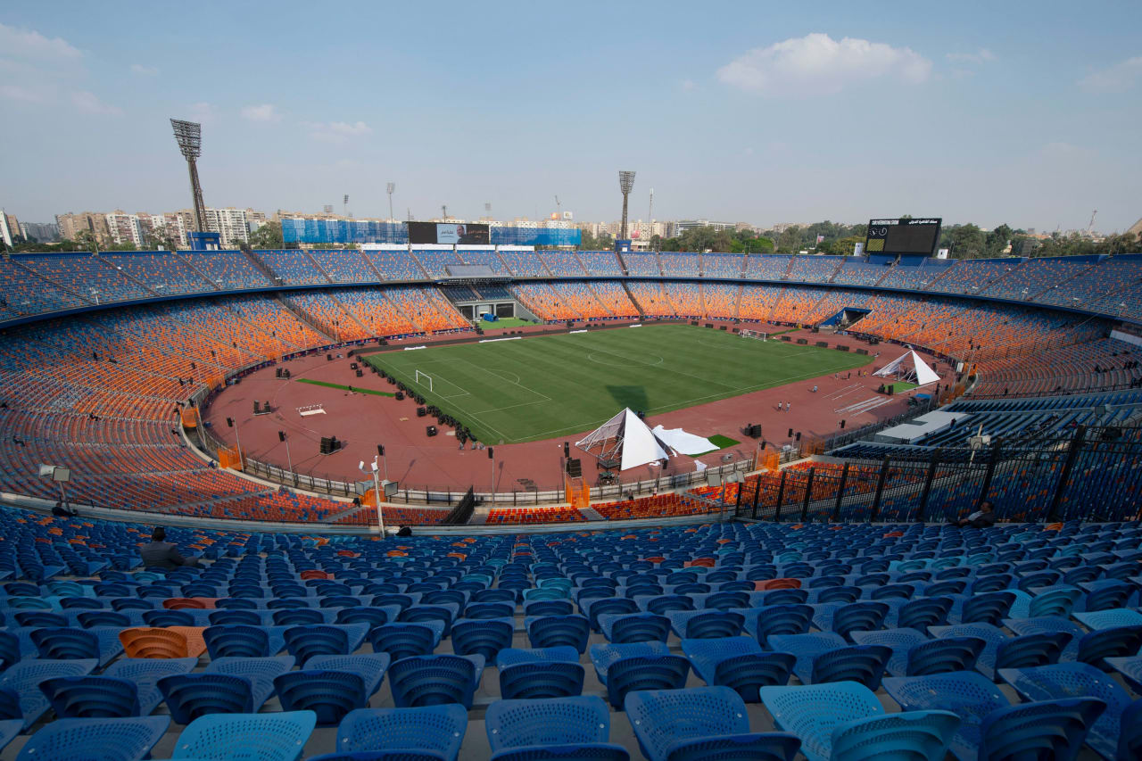 General View of Cairo International Stadium ahead of the opening match of the 2019 Africa Cup of Nations football match between Egypt and Zimbabwe, on 17 June 2019 ©BackpagePix