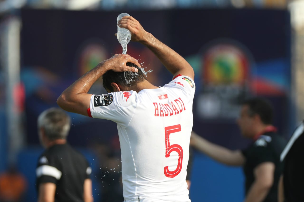 Oussama Hadadi of Tunisia during the 2019 Africa Cup of Nations Finals match between Tunisia and Mali at Suez Stadium, Suez, Egypt on 28 June 2019 ©Samuel Shivambu/BackpagePix