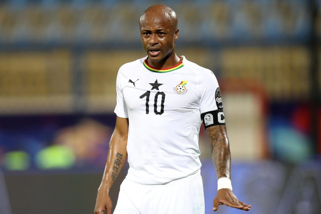 Andre Ayew of Ghana during the 2019 Africa Cup of Nations Finals Cameroon and Ghana at Ismailia Stadium, Ismailia, Egypt on 29 June 2019 ©Samuel Shivambu/BackpagePix