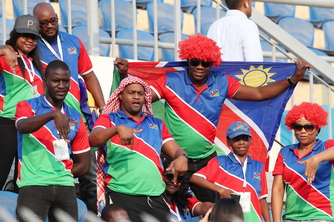 Namibia Fans during the 2019 Africa Cup of Nations match between Namibia and Ivory Coast at the 30 June Stadium, Cairo on the 01 July 2019 ©Muzi Ntombela/BackpagePix