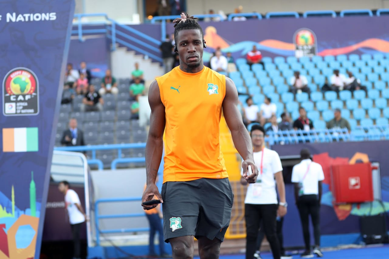 Wilfried Zaha of Ivory Coast arrives during the 2019 Africa Cup of Nations Finals, quarterfinals match between Ivory Coast and Algeria at Suez Stadium, Suez, Egypt on 11 July 2019 ©Samuel Shivambu/BackpagePix