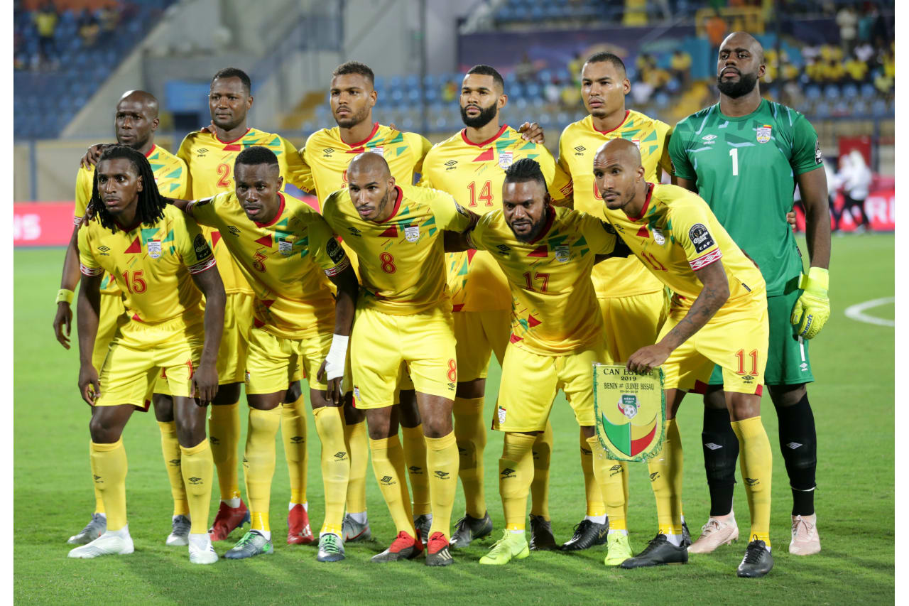 Benin Team picture during the 2019 Africa Cup of Nations Finals Benin and Guinea-Bissau at Ismailia Stadium, Ismailia, Egypt on 29 June 2019