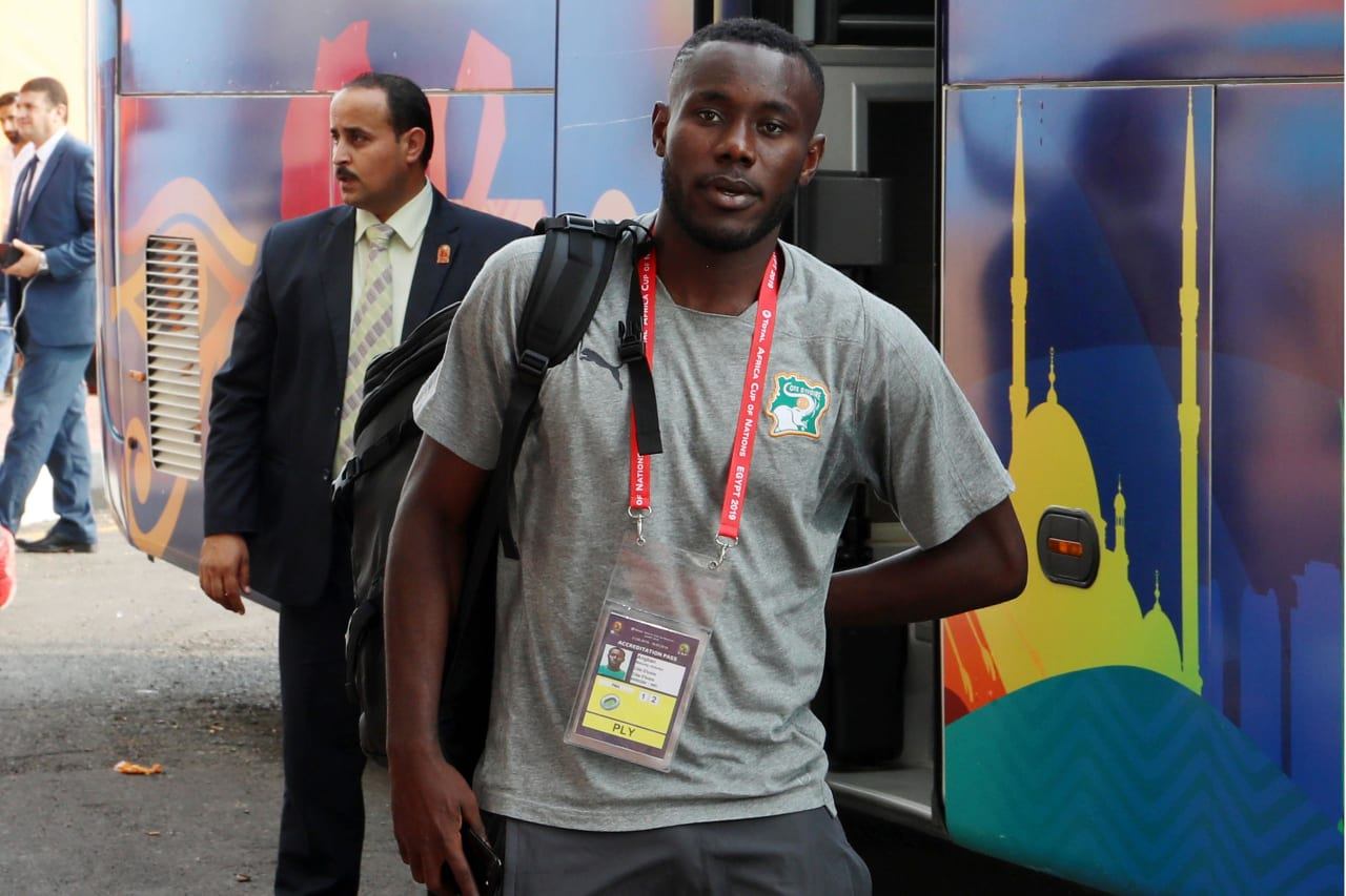 Ivory Coast team arrival during the 2019 Africa Cup of Nations match between Namibia and Ivory Coast at the 30 June Stadium, Cairo on the 01 July 2019 ©Muzi Ntombela/BackpagePix