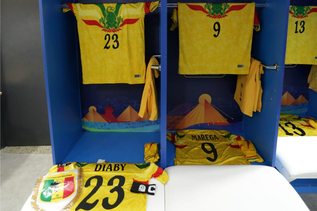 Mali changeroom general view during the 2019 Africa Cup of Nations Finals last 16 match between Mali and Ivory Coast at Suez Stadium, Suez, Egypt on 08 July 2019 ©Samuel Shivambu/BackpagePix
