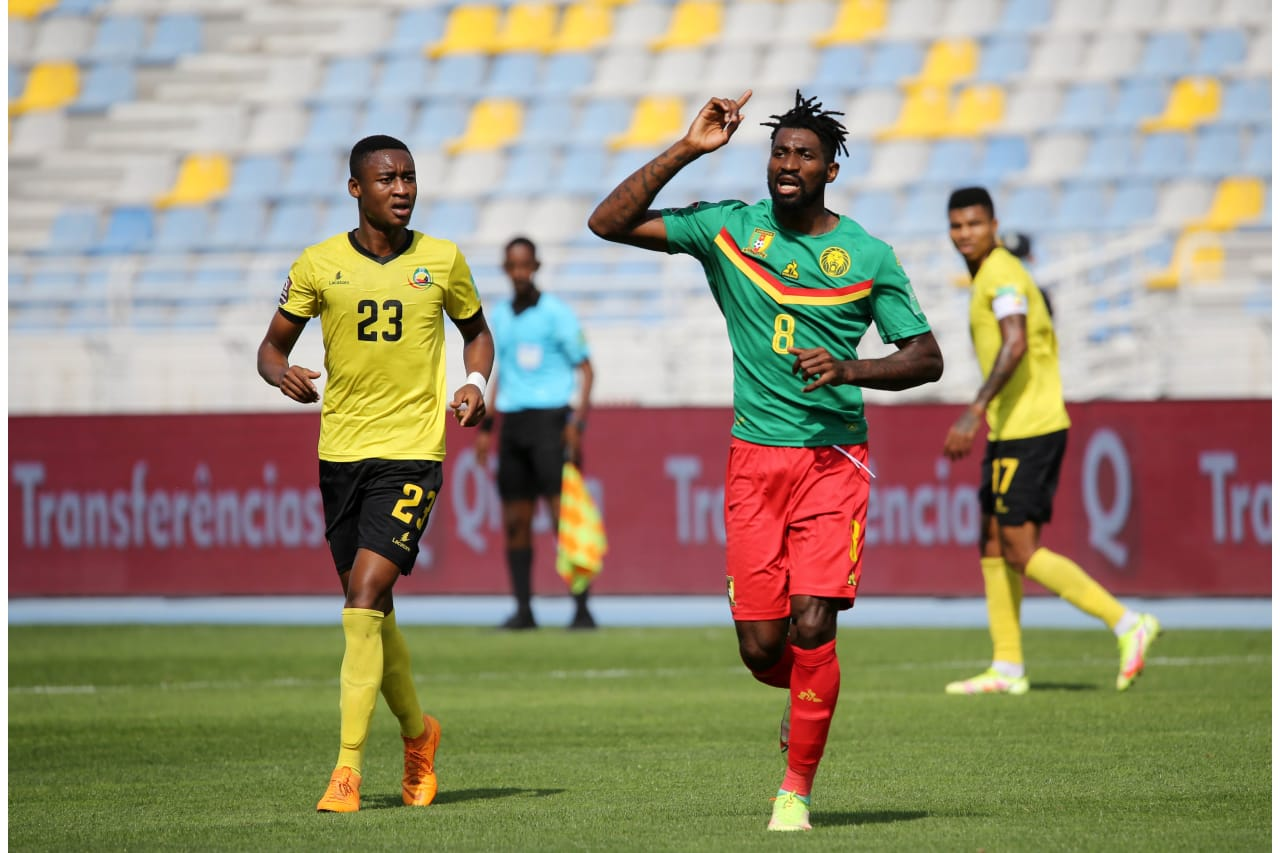 Andre Zambo Anguissa of Cameroon during the Qatar 2022 FIFA World Cup Qualifier between Mozambique and Cameroon at Grand Stade De Tanger in Morocco on 11 October 2021 ©BackpagePix