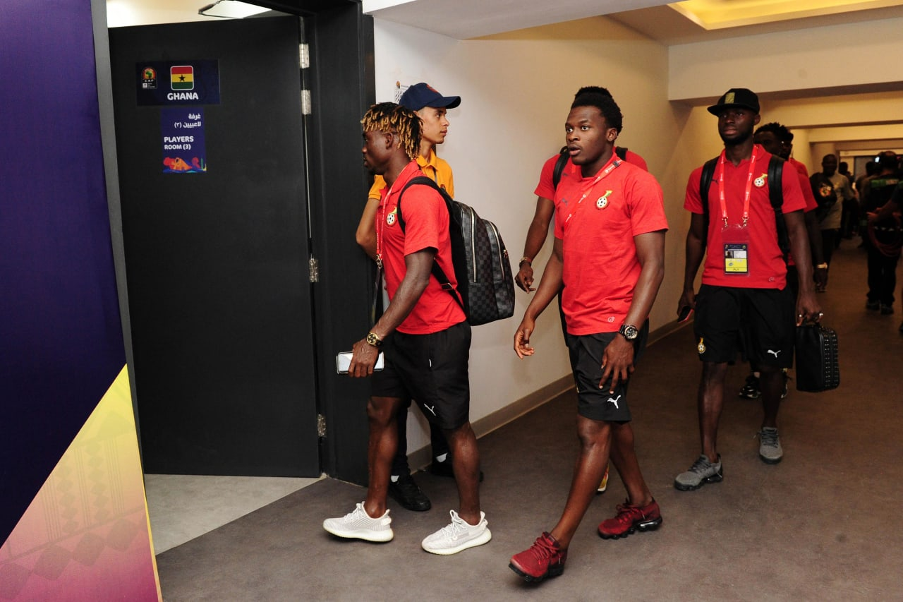 Ghana arrivals before the 2019 Africa Cup of Nations Finals football match between Guinea Bissau and Ghana at the Suez Stadium, Suez, Egypt on 02 July 2019 © Ryan Wilkisky/BackpagePix