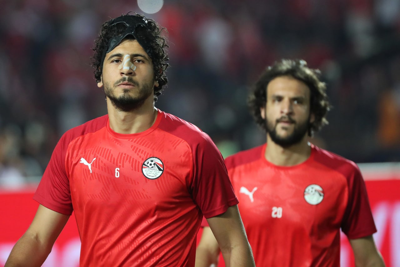 Ahmed Hegazi of Egypt during the 2019 Africa Cup of Nations Finals football match between Egypt and DR Congo at the Cairo International Stadium, Cairo, Egypt on 26 June 2019 ©Gavin Barker/BackpagePix