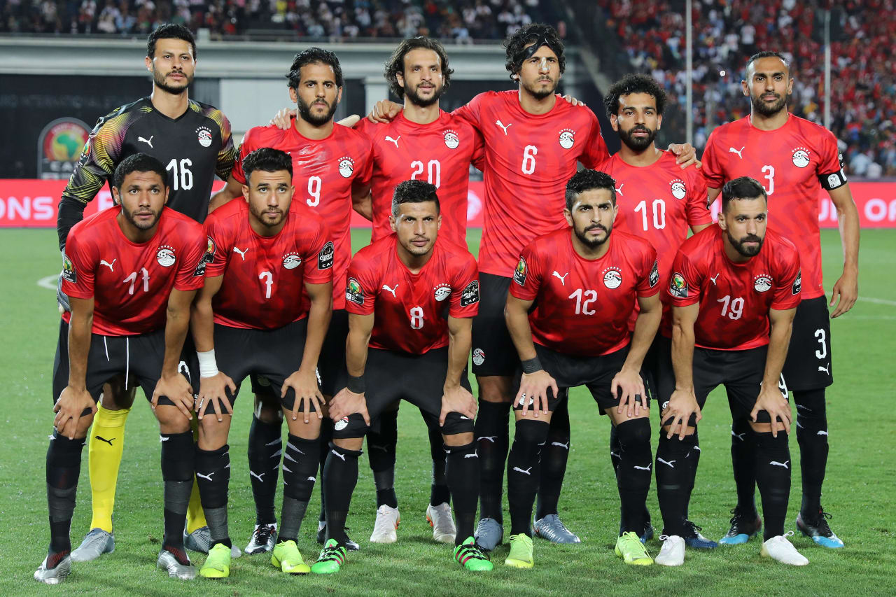 Egypt Team Picture during the 2019 Africa Cup of Nations Finals football match between Egypt and DR Congo at the Cairo International Stadium, Cairo, Egypt on 26 June 2019 ©Gavin Barker/BackpagePix