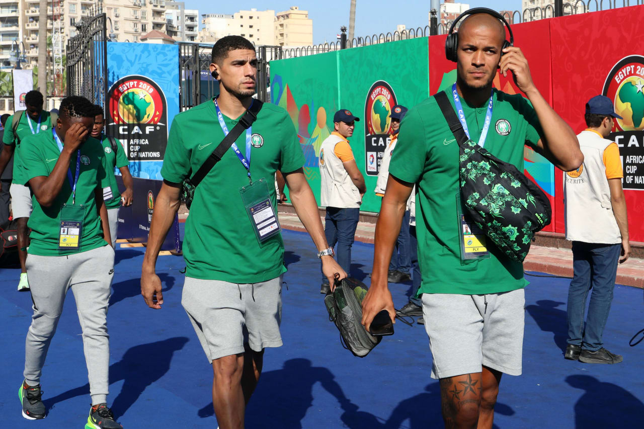 Nigeria team arrival during the 2019 Africa Cup of Nations Last 16 match between Nigeria and Cameroon at the Alexandria Stadium, Alexandria on the 06 July 2019 ©Muzi Ntombela/BackpagePix