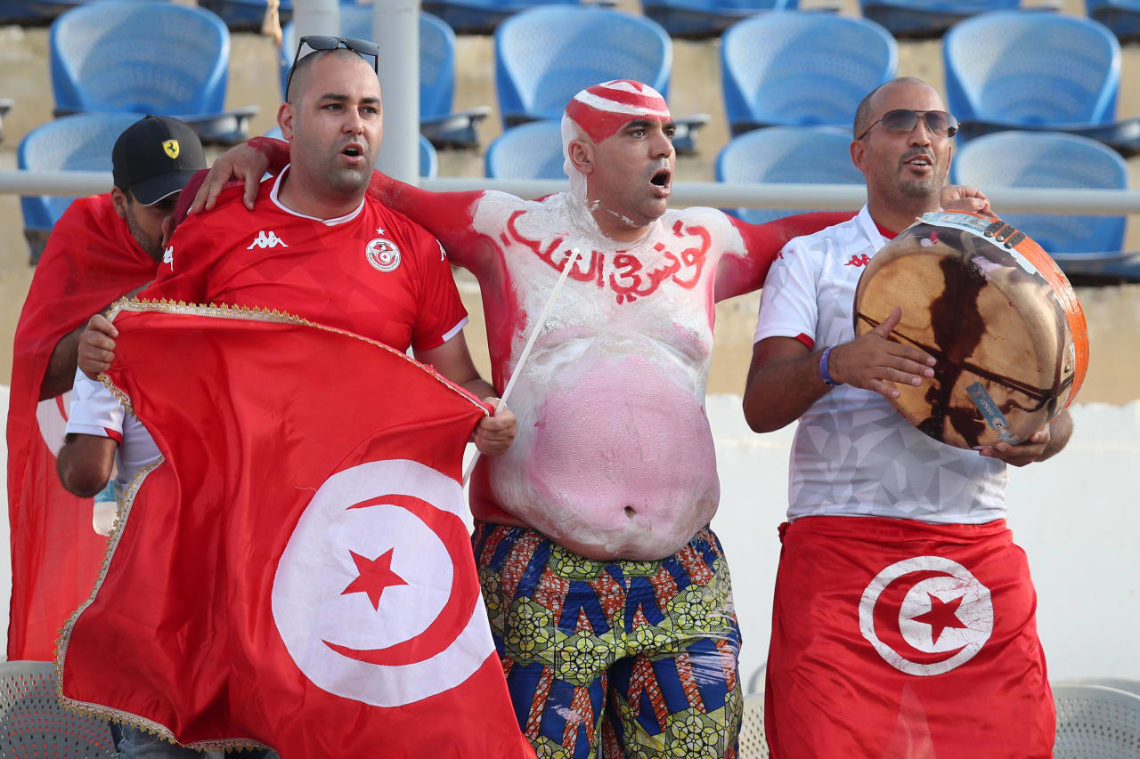 Tunisia fans during the 2019 Africa Cup of Nations Semifinals match between Senegal and Tunisia at the 30 June Stadium, Cairo on the 14 July 2019 ©Muzi Ntombela/BackpagePix