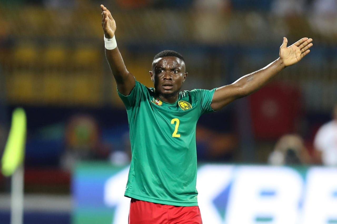 Ngoran Collins Fai of Cameroon during the 2019 Africa Cup of Nations Finals Cameroon and Ghana at Ismailia Stadium, Ismailia, Egypt on 29 June 2019 ©Samuel Shivambu/BackpagePix