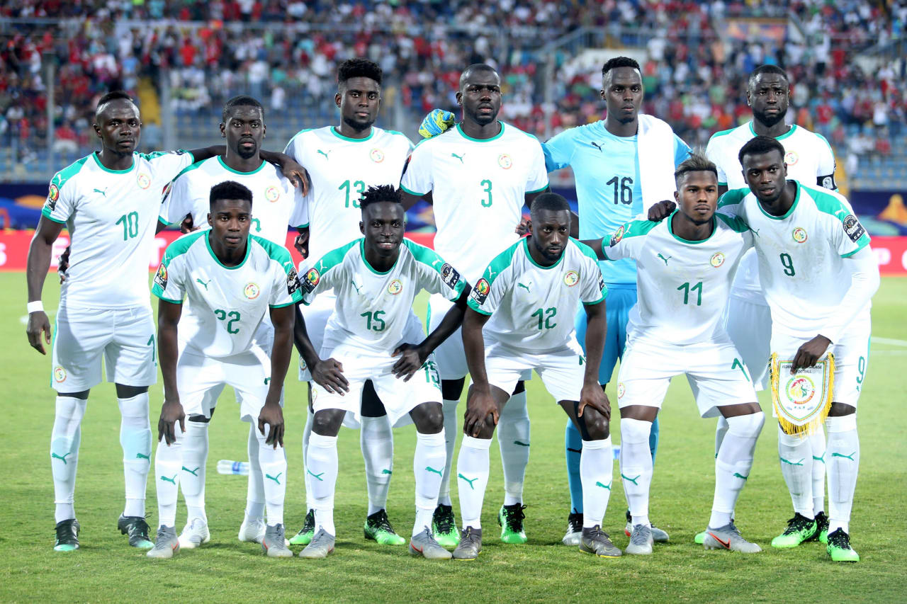 Senegal team picture during the 2019 Africa Cup of Nations Finals match between Senegal and Algeria at 30 June Stadium, Cairo, Egypt on 27 June 2019 ©Samuel Shivambu/BackpagePix