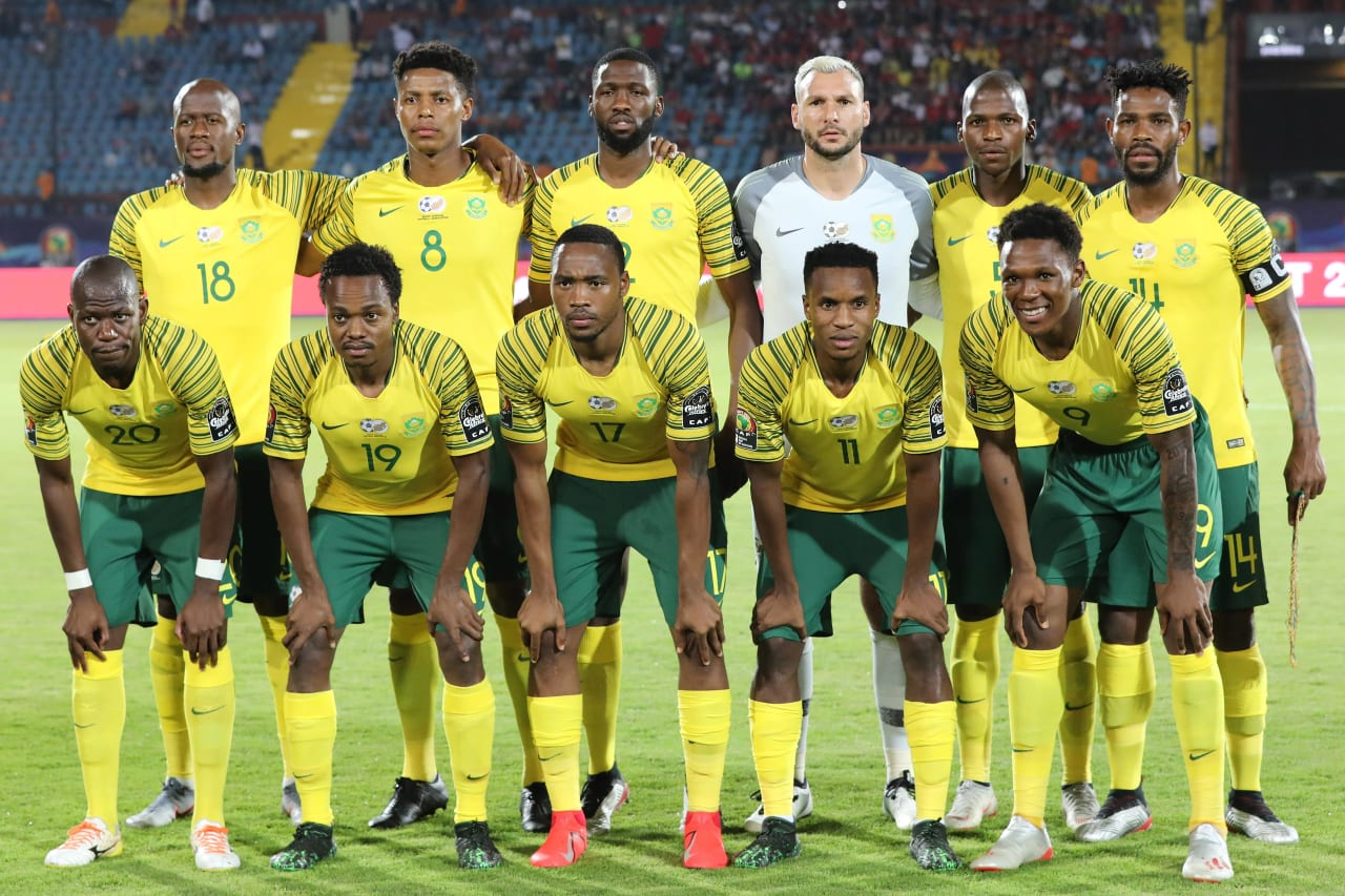 South Africa Team Picture  during the 2019 Africa Cup of Nations Finals football match between South Africa and Namibia at the Al Salam Stadium, Cairo, Egypt on 28 June 2019 ©Gavin Barker/BackpagePix