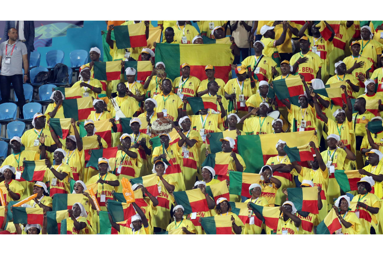 Benin fans during the 2019 Africa Cup of Nations Finals Benin and Guinea-Bissau at Ismailia Stadium, Ismailia, Egypt on 29 June 2019