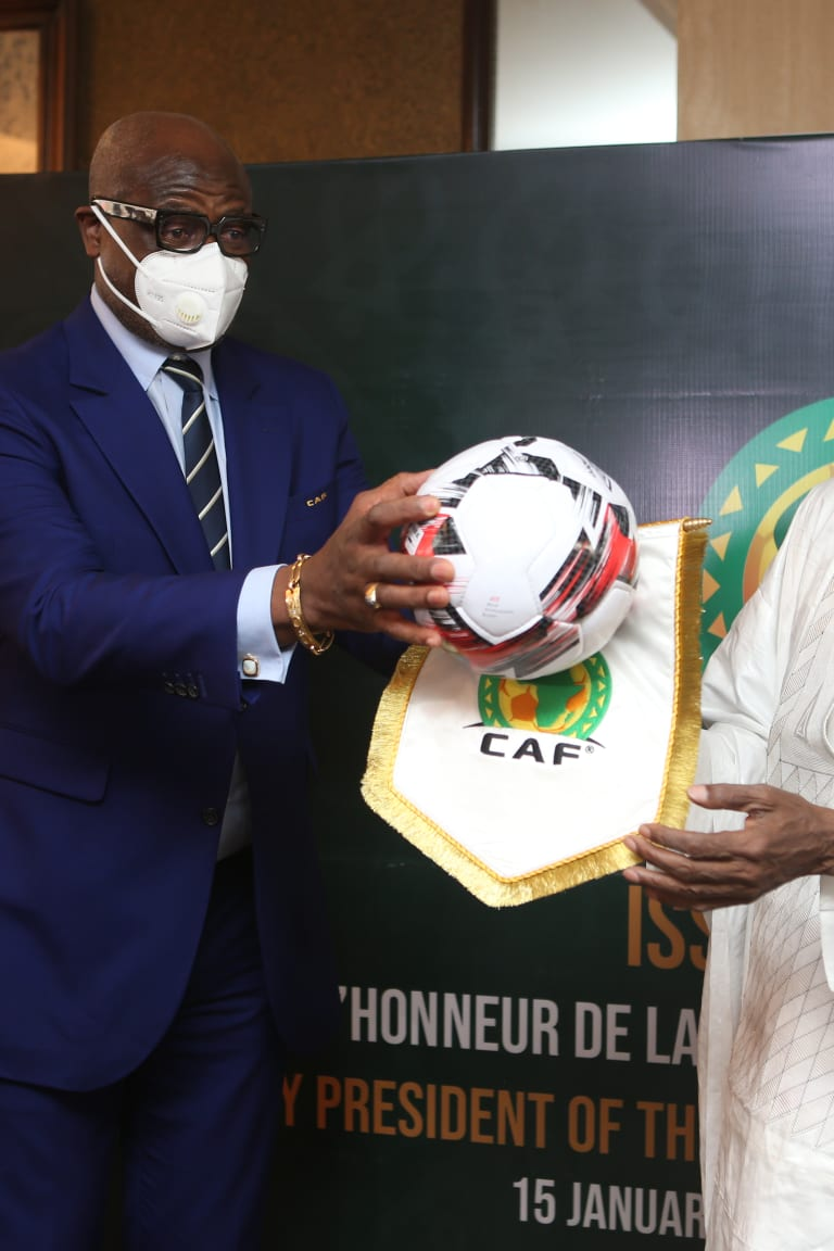 Historic: Hayatou decorated Honorary CAF President